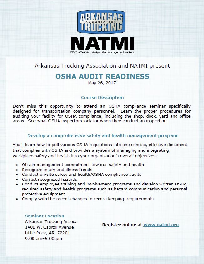 2017 OSHA Audit Readiness