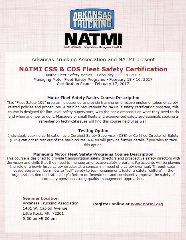 2017 fleet safety course