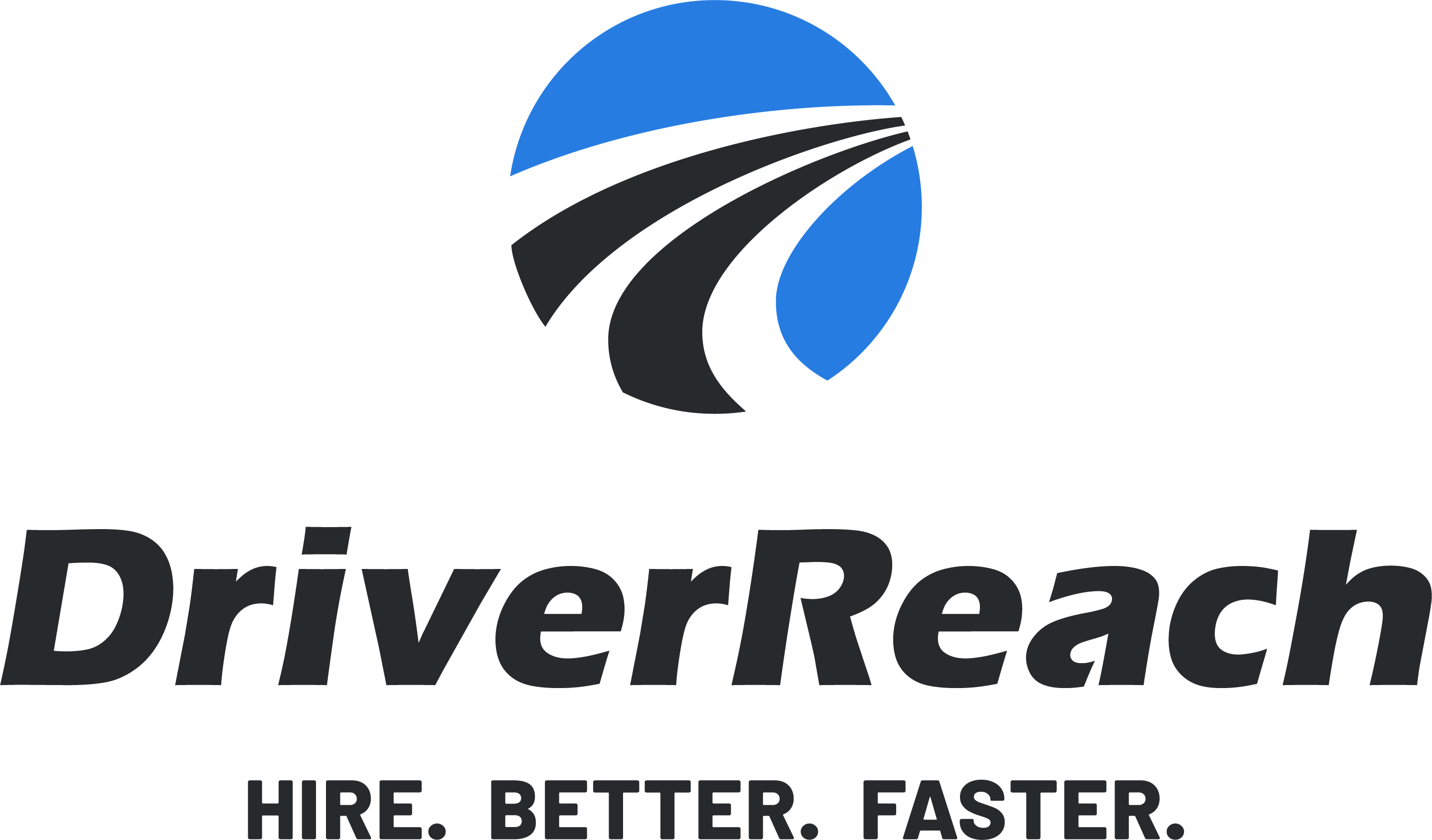 DriverReach logo stacked tagline black blue 1