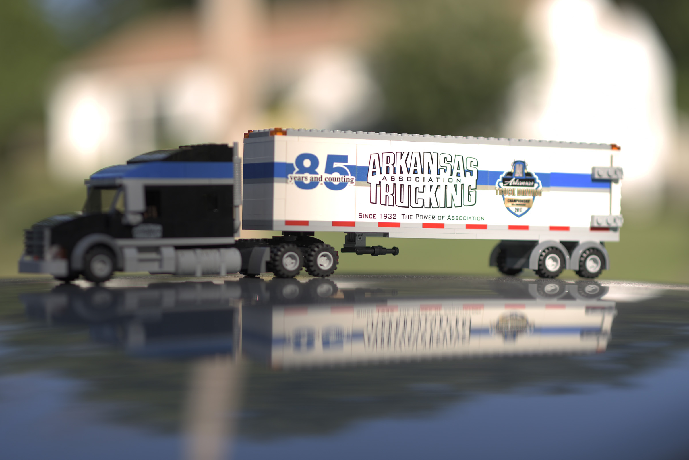 Arkansas Trucking commemorative lego set