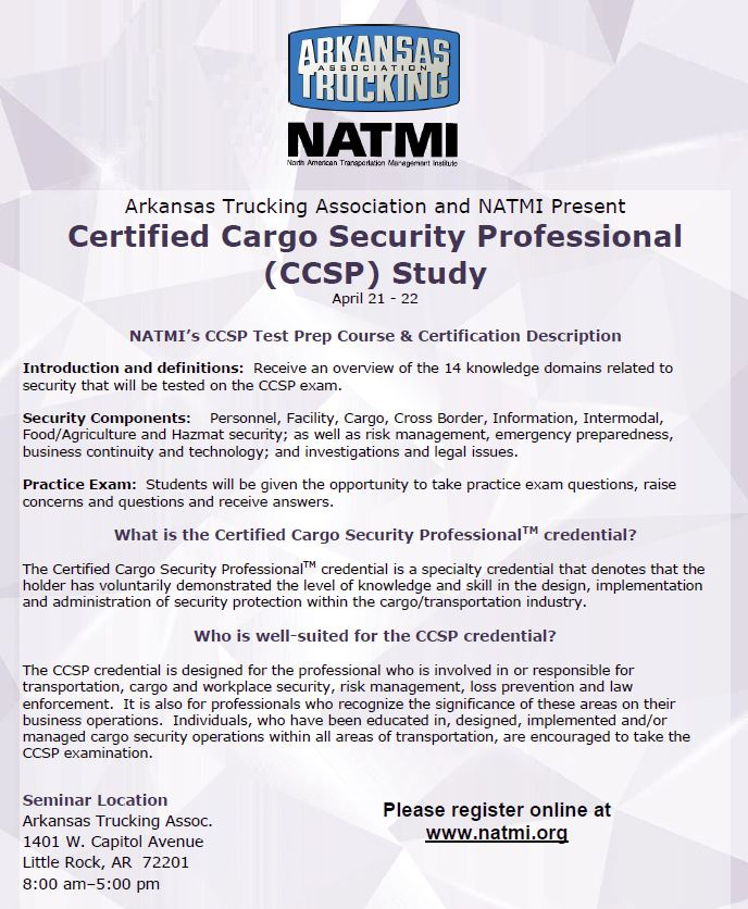 Certified Cargo Security Professional (CCSP) Study