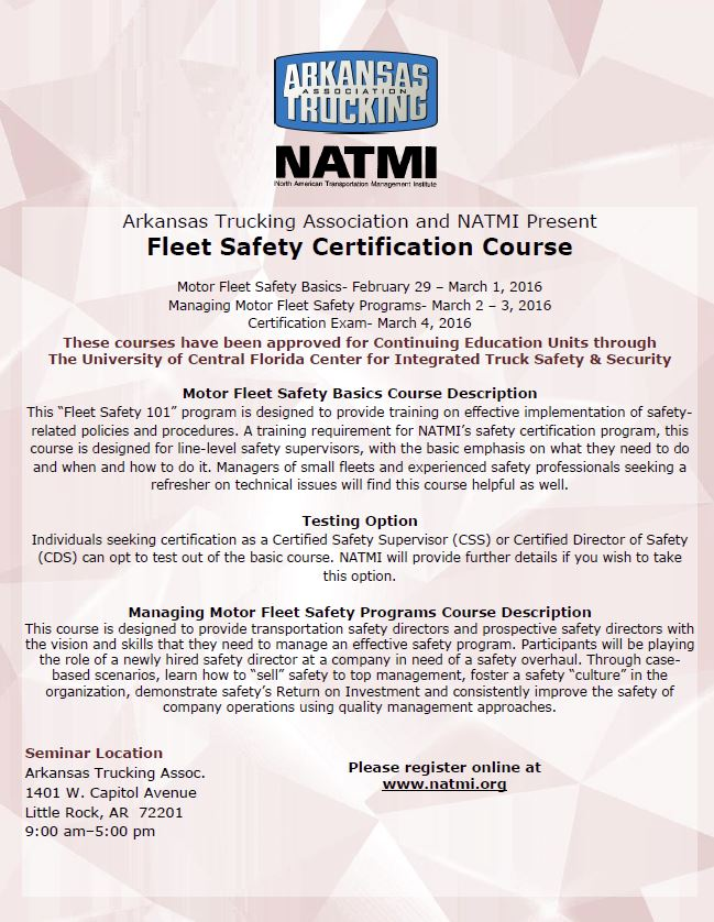 Fleet Safety Certification Cds Css