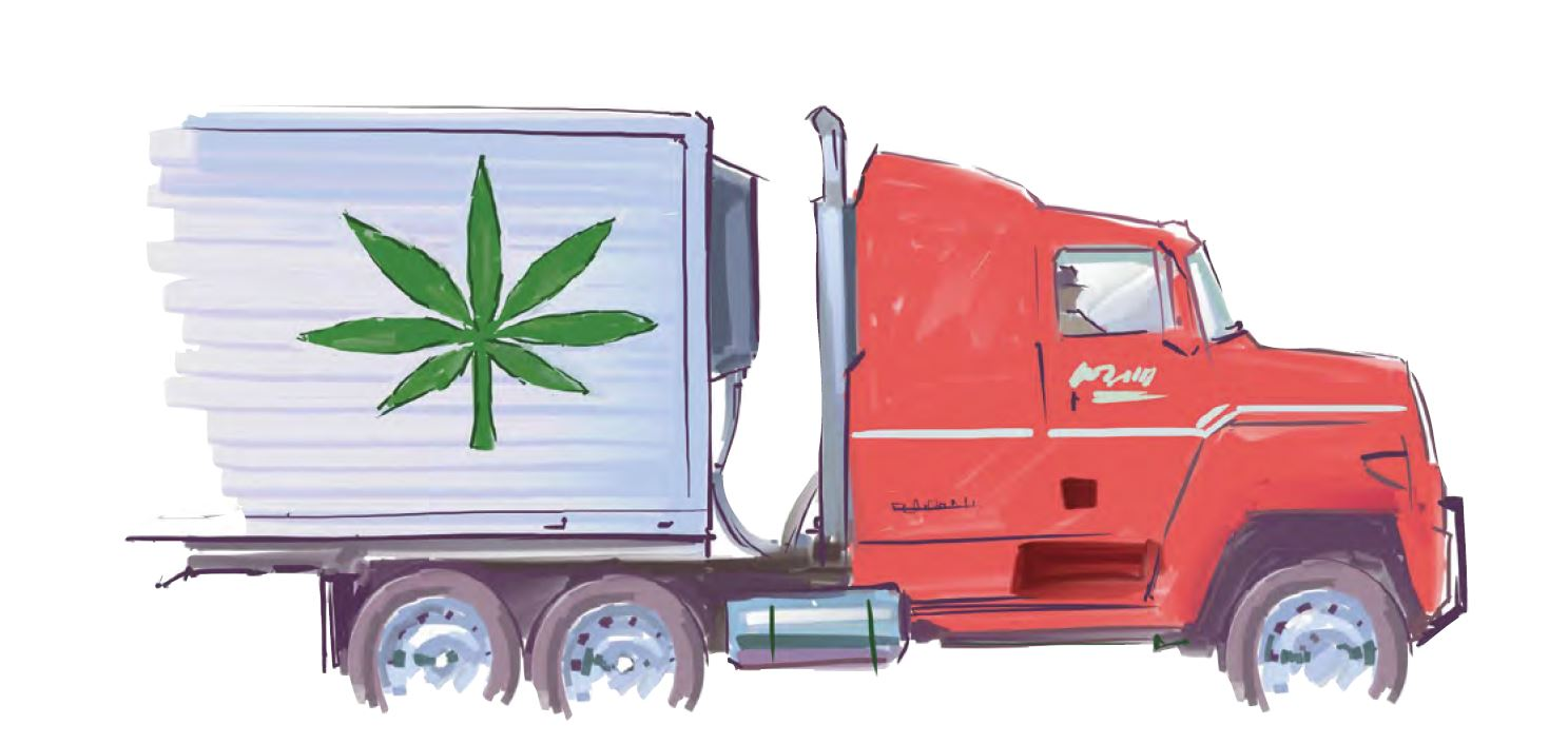 marijuana distribution truck